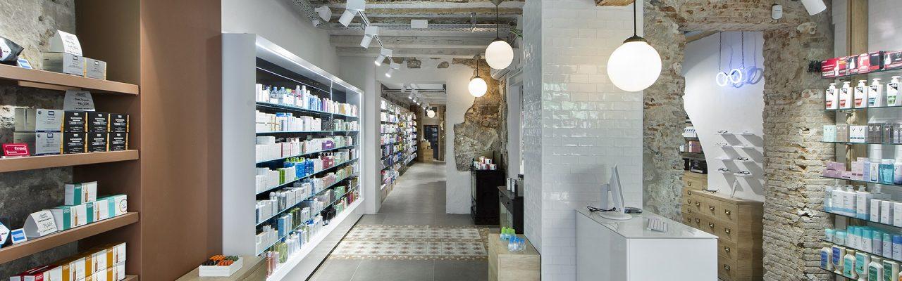 Interior Farmacia Alomar Born Barcelona