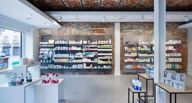 Estanterías para farmacias. Farmacia Girona