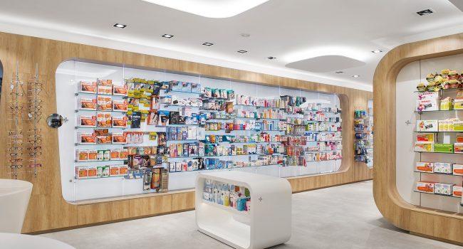 Estanterías de farmacia