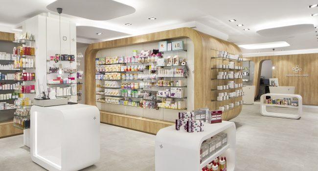 Góndola de la farmacia Gallardo