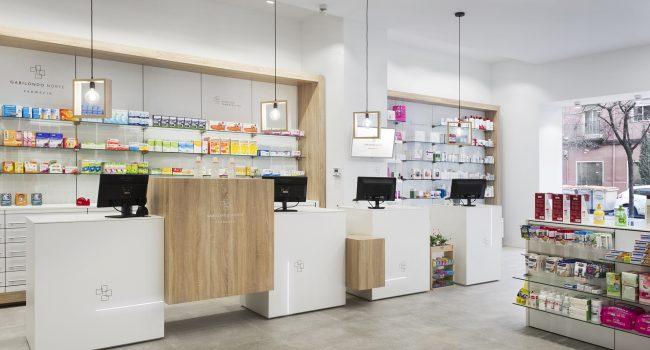 Mostrador de farmacia. Gabilondo