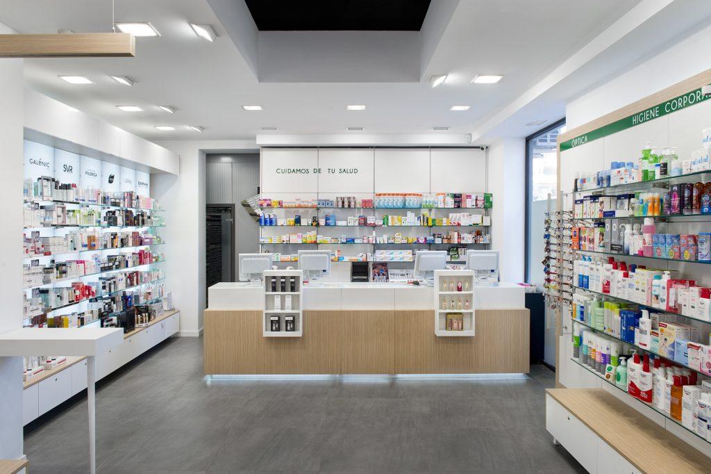 Mobiliario a medida en farmacias pequeñas
