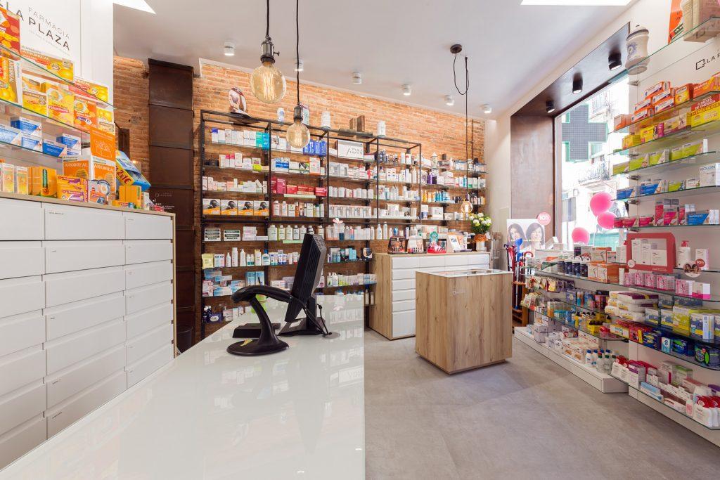 Espacio de almacenaje farmacias pequeñas