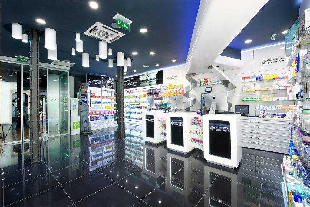 Farmacias futuristas y modernas