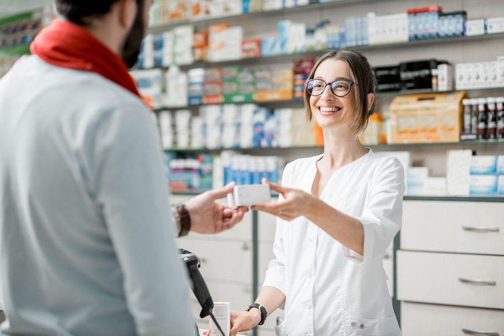 Los trabajadores de una farmacia