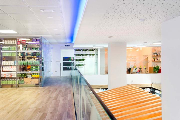 Diseño interior de farmacia.