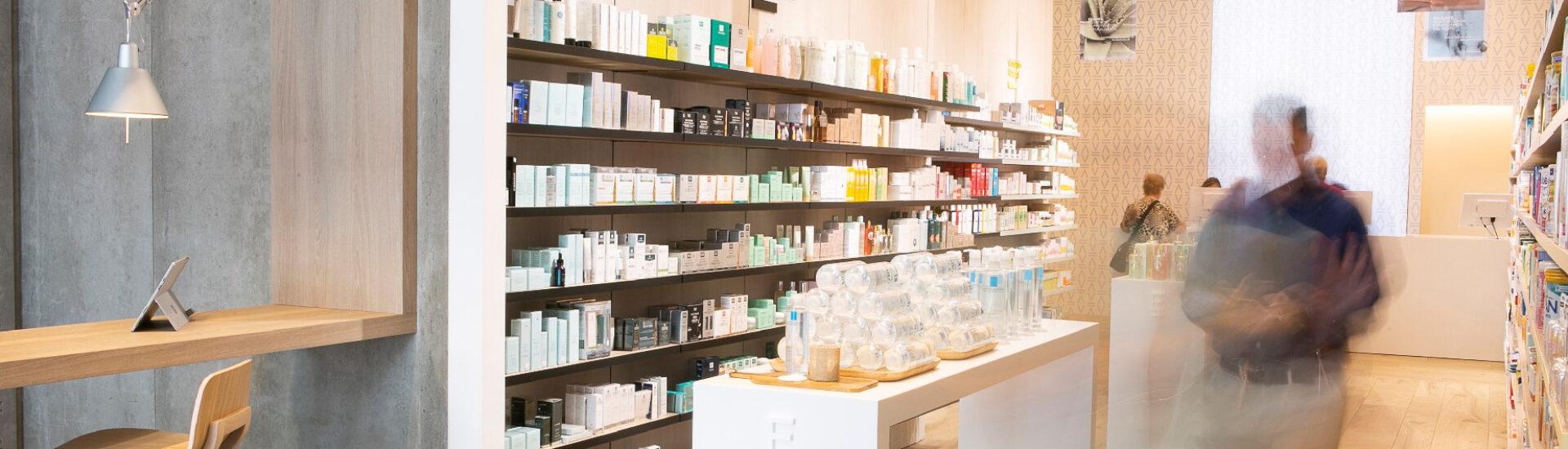 Mostrador de farmacia.