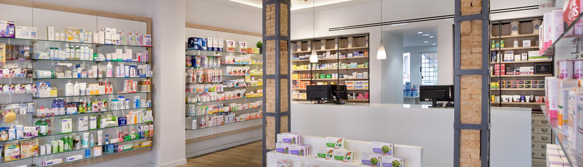 Interior de la farmacia Sentandreu